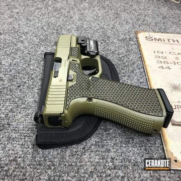 Glock 45 Cerakoted Using Noveske Bazooka Green