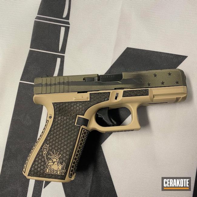 Cerakoted: S.H.O.T,HAZEL GREEN H-204,Graphite Black H-146,Desert Sand H-199,GEN 5,Glock 19X