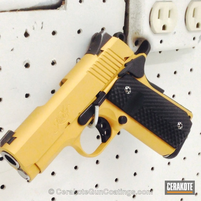 Smaller version of the 2nd project picture. Graphite Black H-146Q, Kimber, Handgun, Gold H-122Q