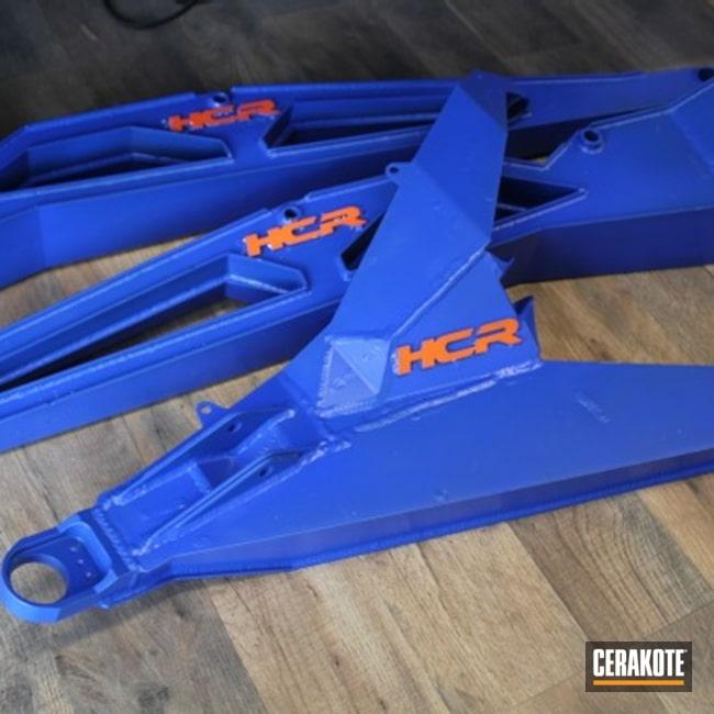 Cerakoted: Car,BLUE FLAME C-158,Automotive,Suspension,Hunter Orange H-128,Polaris RZR