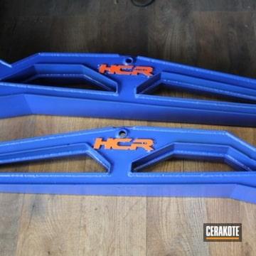 Hcr Suspension Cerakoted Using Hunter Orange And Blue Flame