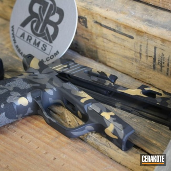 Cerakoted: S.H.O.T,Graphite Black H-146,Tungsten H-237,Camo,Sig Sauer,Sig,Custom Camo,Gold H-122