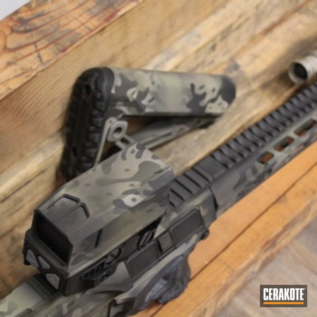 Cerakoted: S.H.O.T,Rifle,MULTICAM® BRIGHT GREEN H-343,Sniper Grey H-234,Graphite Black H-146,AR,Camo,.223