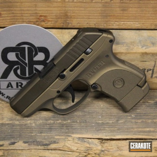 Cerakoted: S.H.O.T,LCP,Ruger,Burnt Bronze H-148,Midnight Bronze H-294
