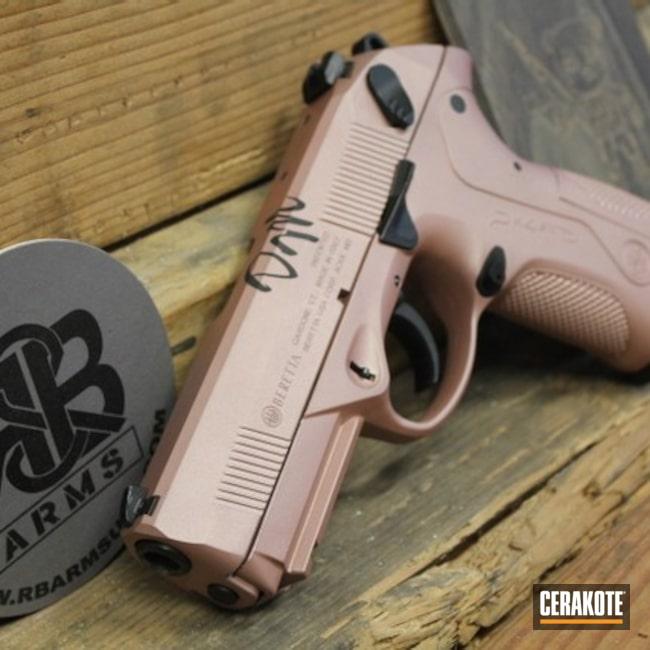 Cerakoted: S.H.O.T,9mm,Beretta,ROSE GOLD H-327,Storm