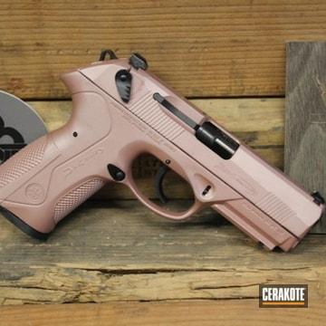 Beretta Pistol Cerakoted Using Rose Gold