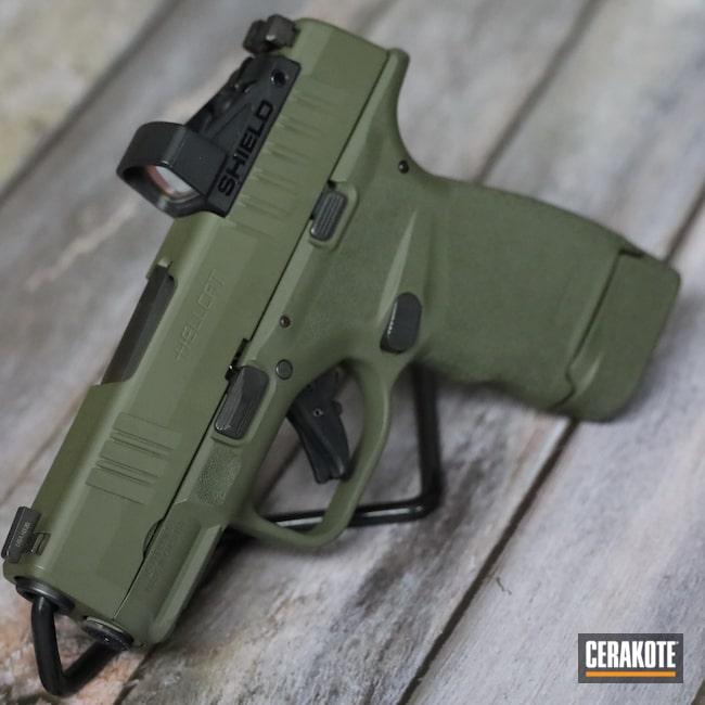 Cerakoted: S.H.O.T,9mm,Pistol,Springfield Armory,O.D. Green H-236,Hellcat,Handgun