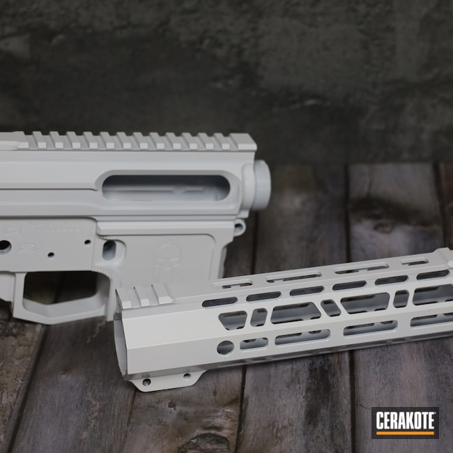 Cerakoted: S.H.O.T,Multi cal,AR,Stormtrooper White H-297,Multi,AR-15 Lower,ML-15,AR-15