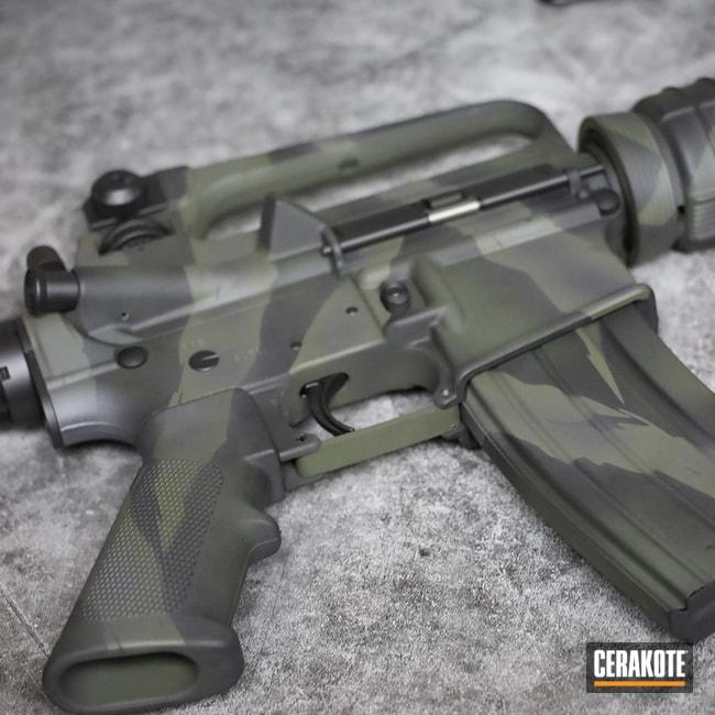 Cerakoted: S.H.O.T,Sniper Grey H-234,Tiger Stripes,XM-15,Graphite Black H-146,AR,Camo,O.D. Green H-236,Custom Camo,5.56,Bushmaster,AR-15