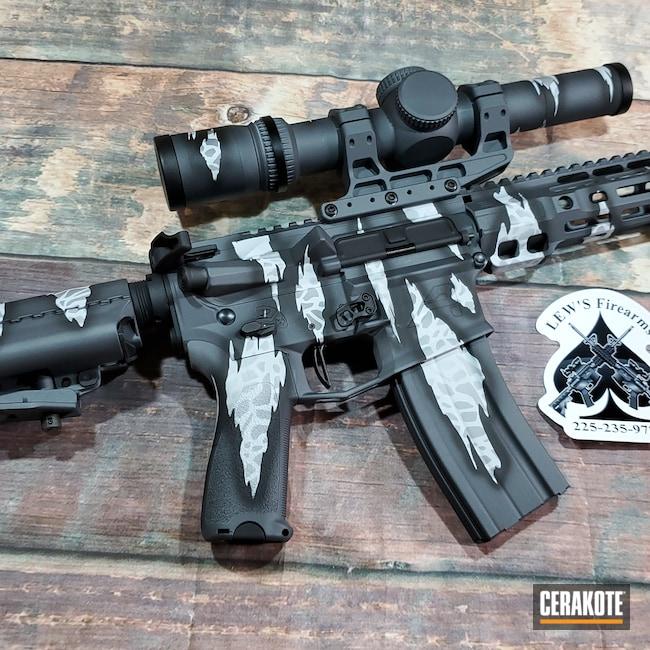 Cerakoted: S.H.O.T,Stone Grey H-262,Graphite Black H-146,BATTLESHIP GREY H-213,Reptile Camo,AR-15