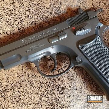 Cz Model 75 Pistol Cerakoted Using Blackout