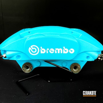 Brembo Calipers Cerakoted Using Stormtrooper White And Blue Raspberry