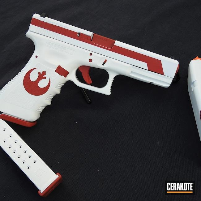 Cerakoted: S.H.O.T,9mm,FIREHOUSE RED H-216,Rebel,Stormtrooper White H-297,Glock,Glock 17,G17,Star Wars