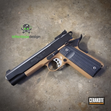 Springfield 1911 Pistol Cerakoted Using 20150