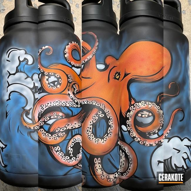 Cerakoted: Sea Blue H-172,Snow White H-136,Graphite Black H-146,YETI,Octopus,One Off Custom,Free Hand,BENELLI® SAND H-143,Ocean Camo,BLOOD ORANGE H-322,SUNFLOWER H-317,One of One