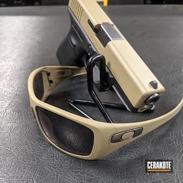 Glock Slide And Oakley Sunglasses Cerakoted Using Coyote Tan