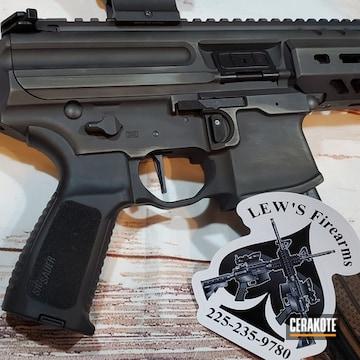 Ar Rifle Cerakoted Using Graphite Black And Northern Lights
