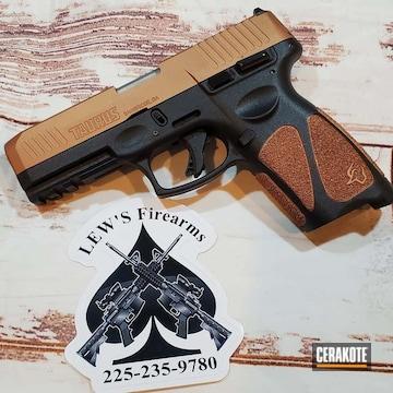 Taurus Pistol Cerakoted Using Copper