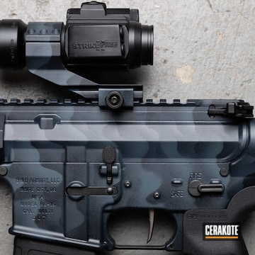 Custom Camo Ar Cerakoted Using Magpul® Stealth Grey, Combat Grey And Jesse James Cold War Grey