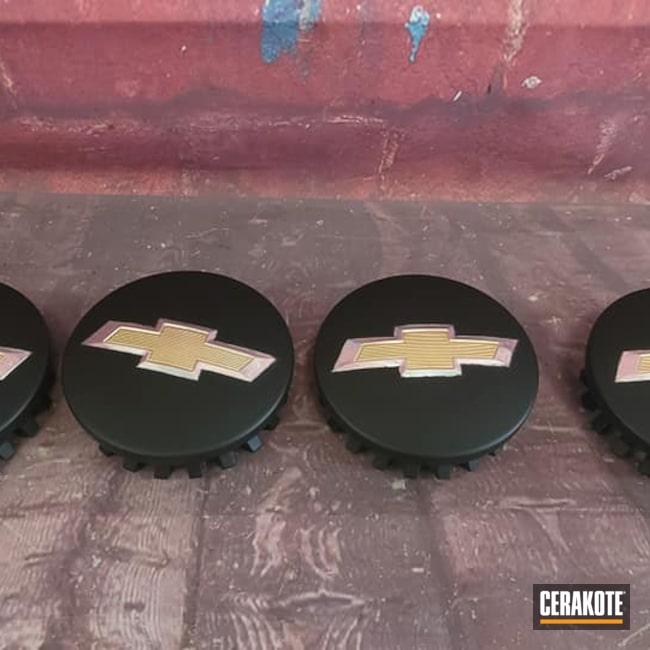 Cerakoted: Wheel Center Caps,Chevrolet,Automotive,CERAKOTE GLACIER BLACK C-7600