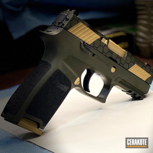 Cerakoted: S.H.O.T,Armor Black H-190,O.D. Green H-236,Gold H-122