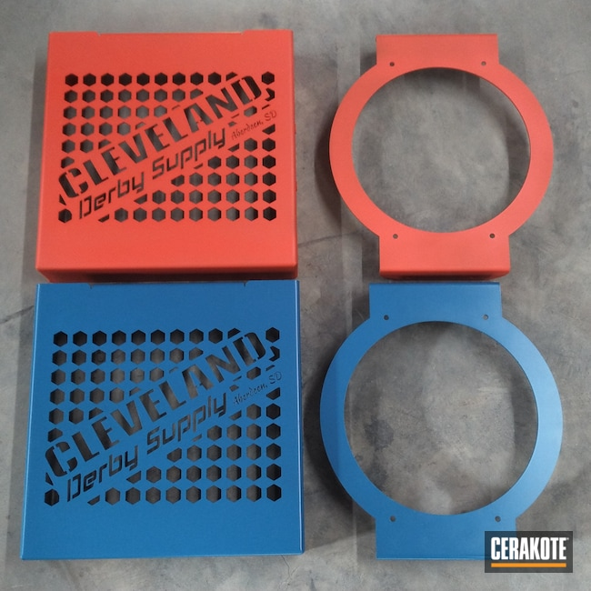 Cerakoted: Bracket,NRA Blue H-171,Derby,Cooler,Automotive,HI-VIS ORANGE H-346
