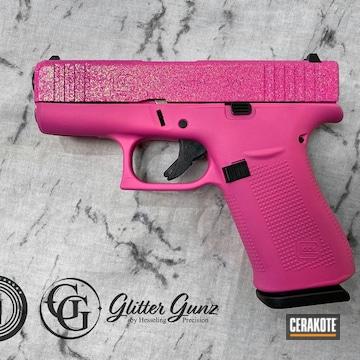 Glock 43x Cerakoted Using Prison Pink