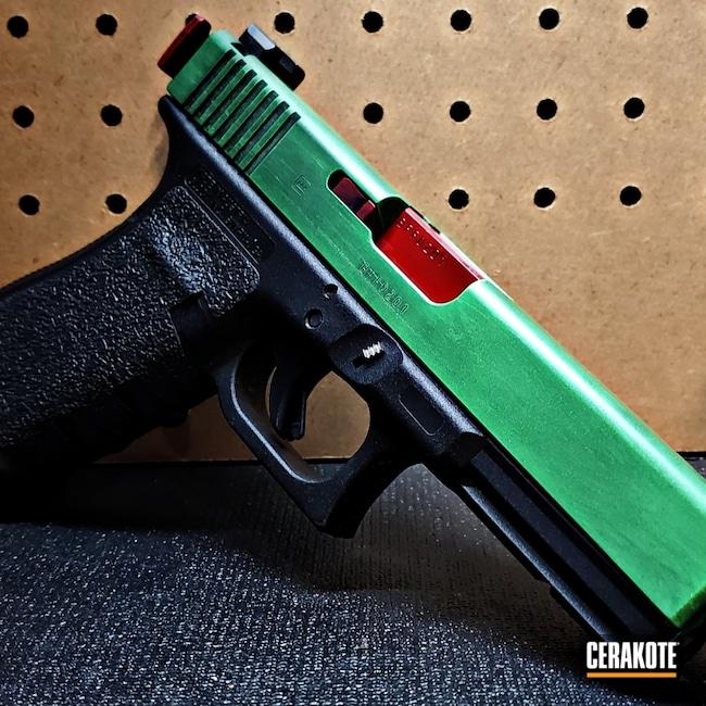 Cerakoted: S.H.O.T,9mm,Zombie,10mm,Graphite Black H-146,USMC Red H-167,Pistol,Glock,PARAKEET GREEN H-331,Glock 20