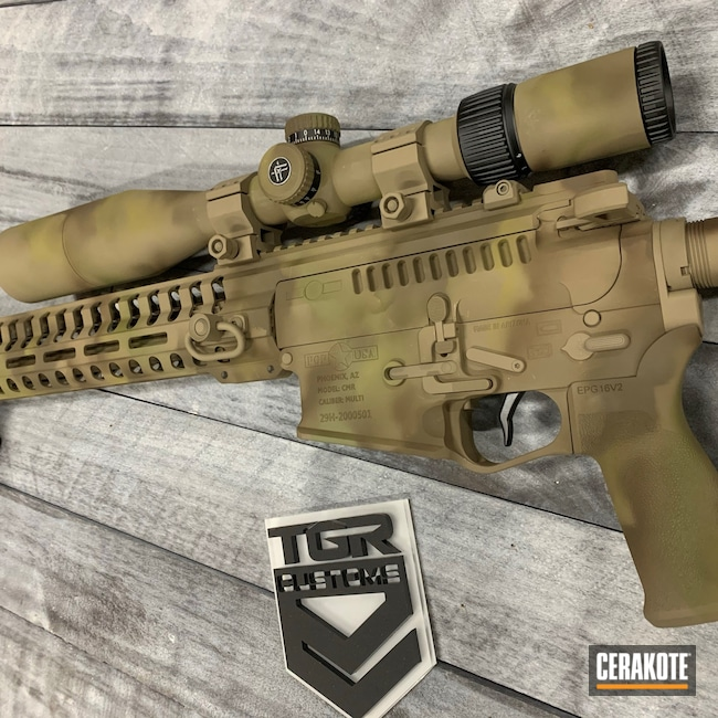 Cerakoted: S.H.O.T,Freehand Camo,MAGPUL® FLAT DARK EARTH H-267,Patriot Brown H-226,MULTICAM® OLIVE H-344,Camouflage
