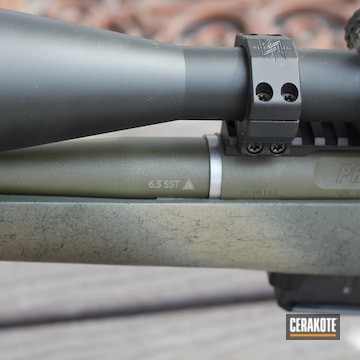 Bolt Action Rifle Cerakoted Using Cobalt Kinetics™ Green