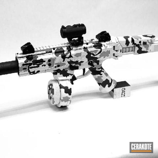 Cerakoted: S.H.O.T,9mm,Graphite Black H-146,Stormtrooper White H-297,Pistol,CZ,.9,Snow Camo,MULTICAM® DARK GREY H-345