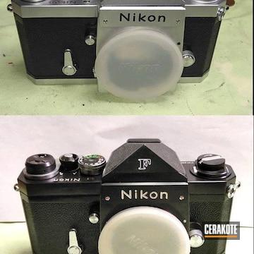 Vintage Nikon Film Camera Cerakoted Using Gloss Black