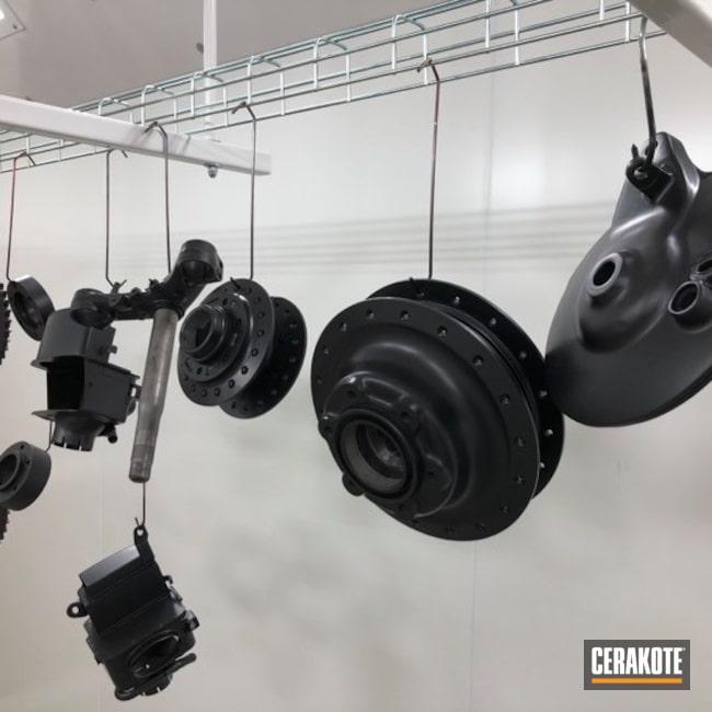 Cerakoted: BLACKOUT E-100,Motorcycle Parts,Yamaha,Vintage,Automotive,Motorcycle