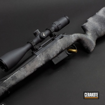 Bolt Action Rifle Cerakoted Using Bull Shark Grey And Tungsten