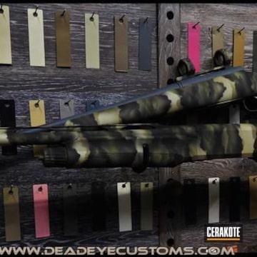 Custom Camo Shotguns Cerakoted Using Troy® Coyote Tan, Noveske Bazooka Green And Desert Sage