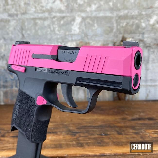 Cerakoted: S.H.O.T,p365,SIG™ PINK H-224,Pistol,Sig Sauer,Firearms