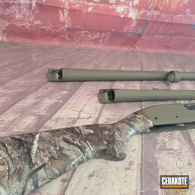 Cerakoted: S.H.O.T,Hydrographics,Shotgun,Patriot Brown H-226,12 Gauge,Gun Parts,Remington 870,Remington