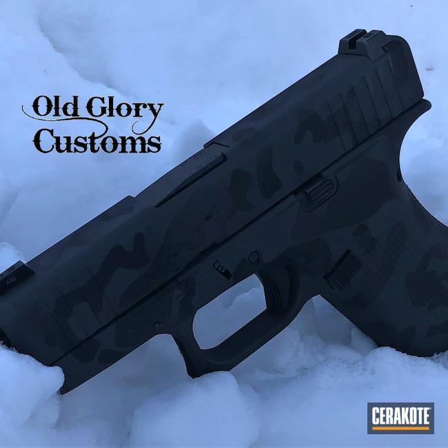 Cerakoted: S.H.O.T,9mm,Glock 43X,Sniper Grey H-234,Graphite Black H-146,Camo,Glock,Custom Camo