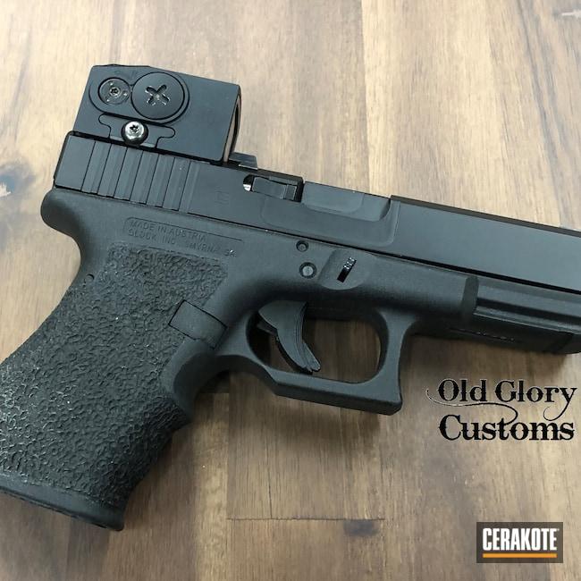 Cerakoted: S.H.O.T,Aimpoint,Glock 19,9mm,Custom Machined,ACRO,Mailbox,Graphite Black H-146,Glock,Machined Slide