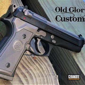 Beretta 92fs Pistol Cerakoted Using Magpul® O.d. Green And Magpul® Flat Dark Earth