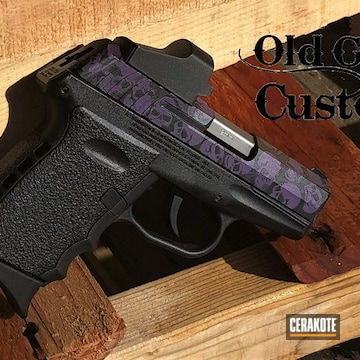 Sccy Cpx-2 Pistol Cerakoted Using Graphite Black And Bright Purple