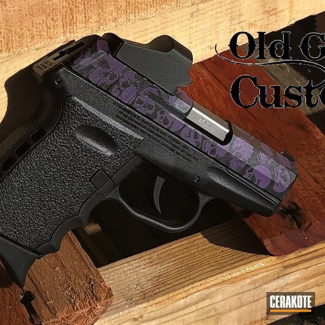 Cerakoted: S.H.O.T,9mm,Custom Mix,Skulls,Graphite Black H-146,Bright Purple H-217,Custom Camo,Sky Blue H-169