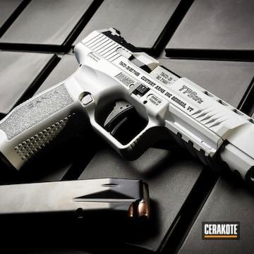 Canik Tp9sfx Pistol Cerakoted Using Stormtrooper White