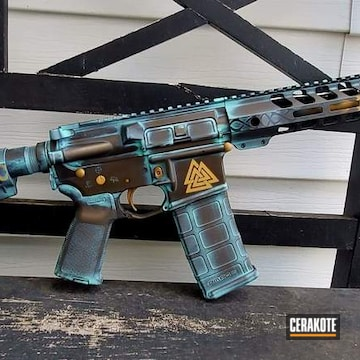 Copper Patina Themed Ar-15 Cerakoted Using Burnt Bronze