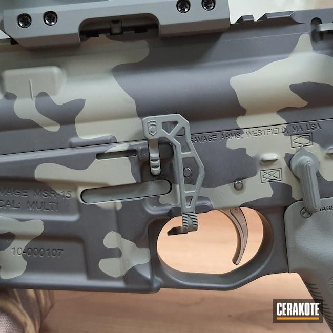Cerakoted: S.H.O.T,HAZEL GREEN H-204,Savage,Armor Black H-190,.223,SIG™ DARK GREY H-210