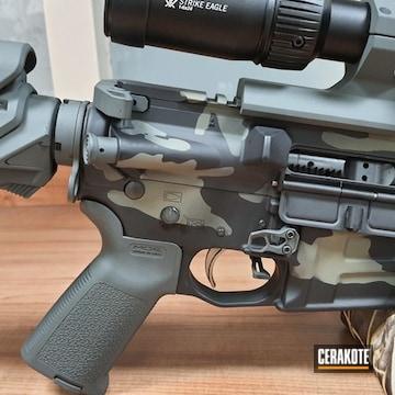 Custom Camo Savage Arms Ar Build Cerakoted Using Armor Black, Hazel Green And Sig™ Dark Grey