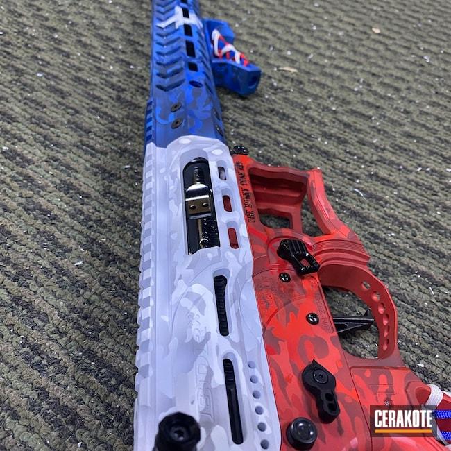 Cerakoted: Bright White H-140,S.H.O.T,Custom Rifle,MultiCam,RUBY RED H-306,KEL-TEC® NAVY BLUE H-127,AR Rifle,Custom Camo