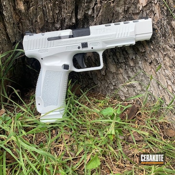 Canik Arms Tp9sfx Pistol Cerakoted Using Stormtrooper White