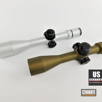 Kahles Scopes Cerakoted Using Satin Aluminum And Burnt Bronze