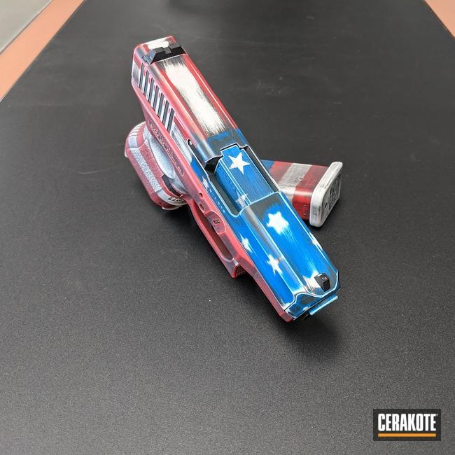 Cerakoted: S.H.O.T,NRA Blue H-171,Battleworn,Stormtrooper White H-297,USMC Red H-167,Glock,American Flag,Glock 26
